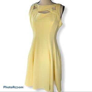 Gabby Style | Yellow Cut Out A Line Dress